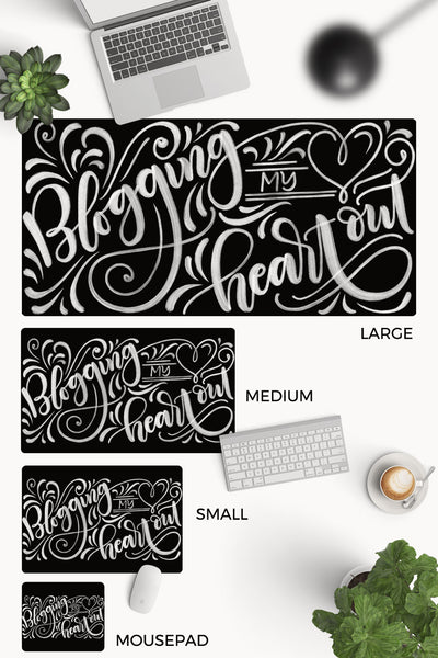 Desk-pad - Blogging my heart out - howjoyfulshop
