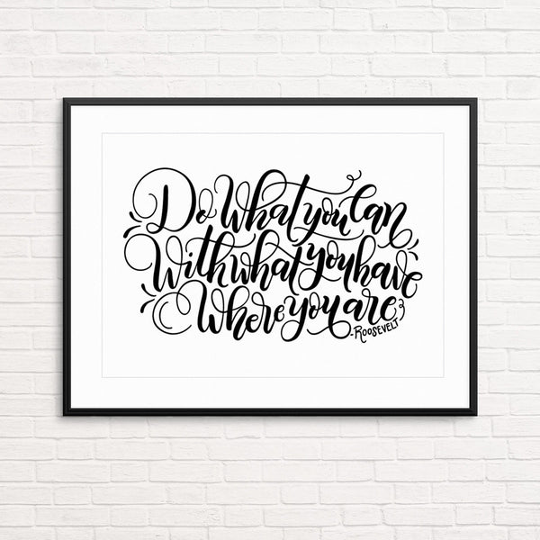 Printable - Do what you can - Print - howjoyfulshop