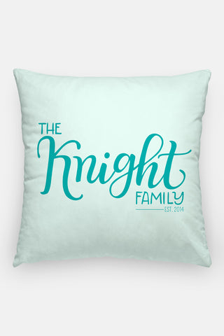 Pillow - Family name - Custom color - howjoyfulshop