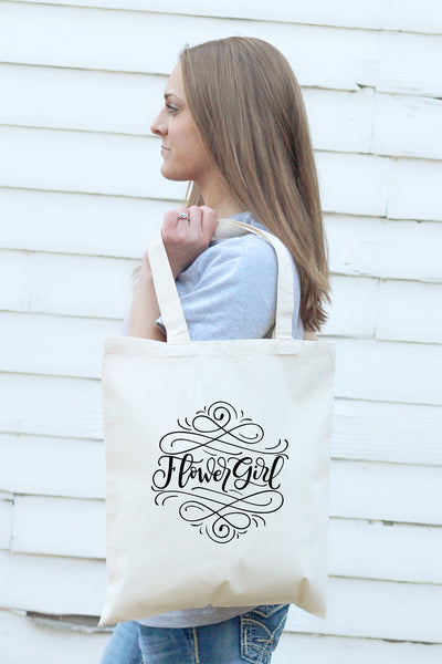 Small Tote bag - Flower girl - howjoyfulshop