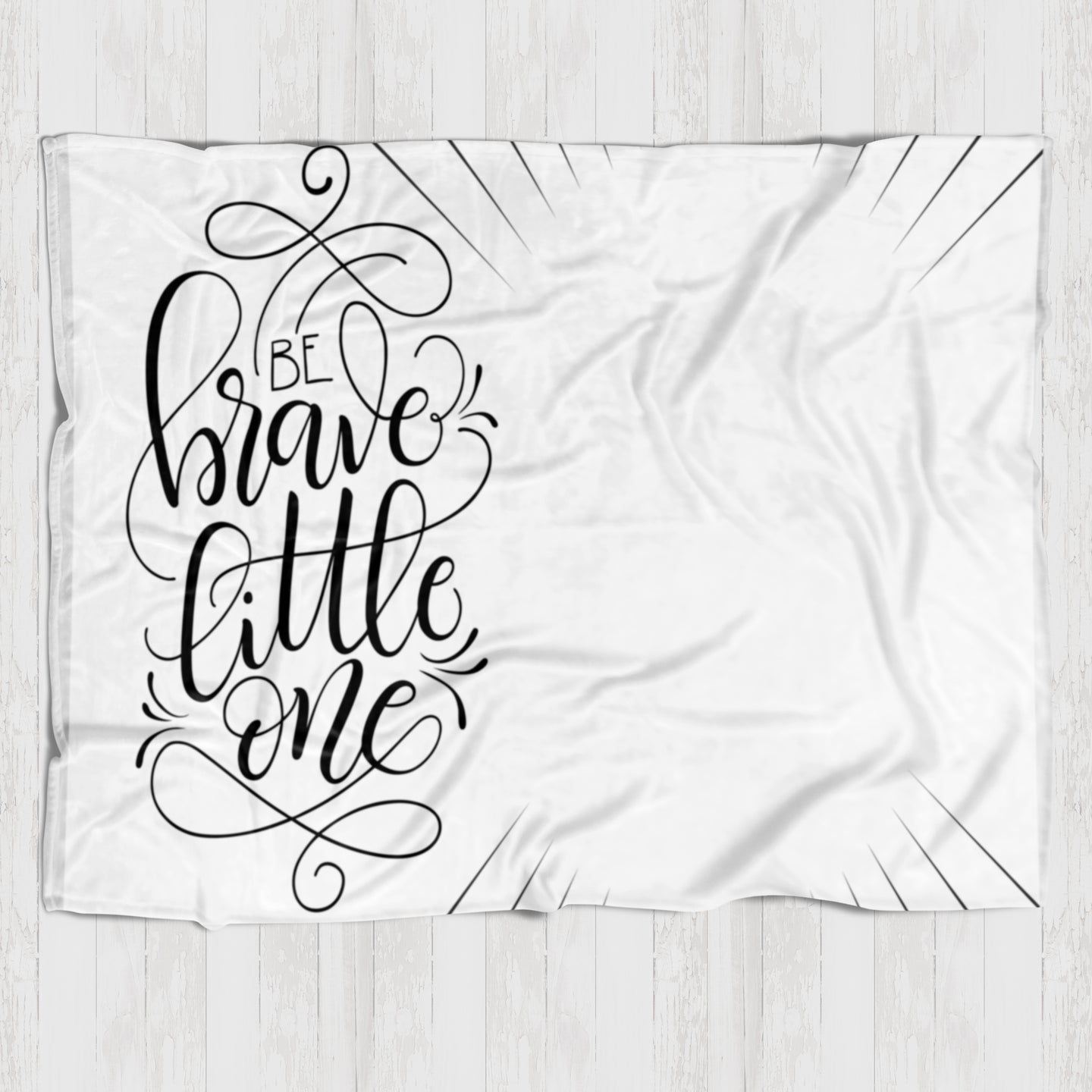 Fleece Blanket - Be brave little one - howjoyfulshop
