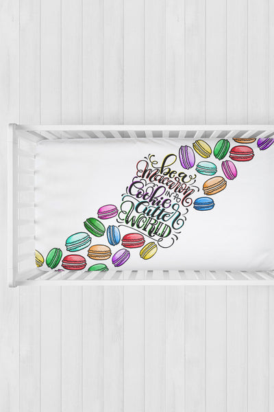 Crib sheet - Be a macaron in a cookie cutter world - SALE - howjoyfulshop