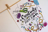 Art print - Creativity is contagious, pass it on - howjoyfulshop