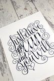 Art print - Just believe you can and you will - howjoyfulshop