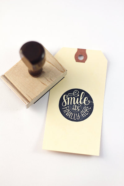 Stamp - Smile it's finally here - SALE - howjoyfulshop