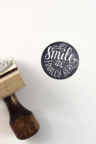 Stamp - Smile it's finally here - howjoyfulshop