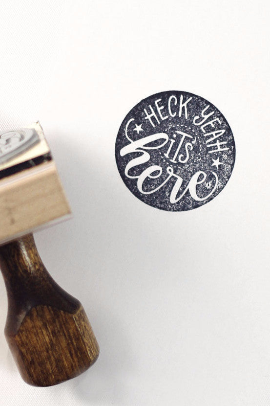 Stamp - Heck yeah, it's here - howjoyfulshop