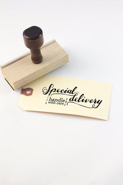 Stamp - Special delivery, handle with care - howjoyfulshop