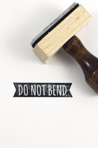 Stamp - Do not bend ribbon - howjoyfulshop
