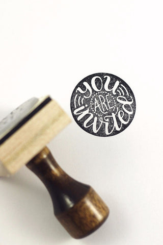 Stamp - You are invited - howjoyfulshop