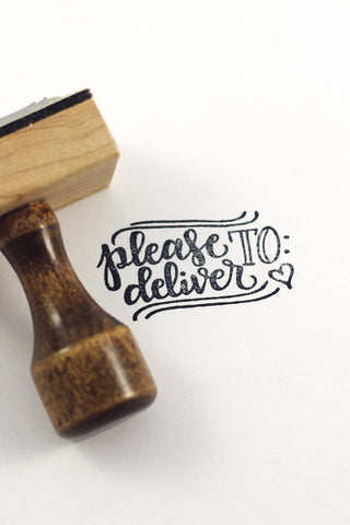 Stamp - Please deliver to - howjoyfulshop