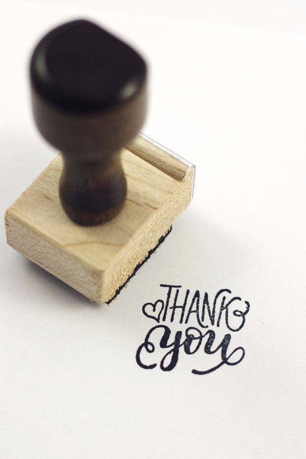 Stamp - Thank you - SALE - howjoyfulshop