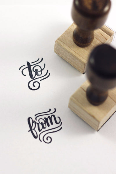 Stamp set - To and From - howjoyfulshop
