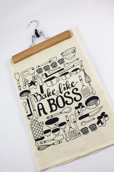 Tea towel - Bake like a boss - howjoyfulshop