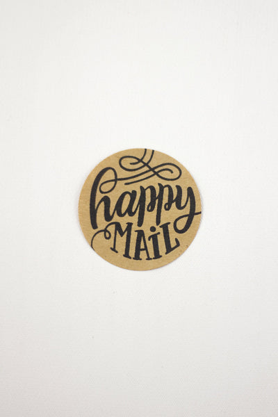 Set of 12 Kraft Stickers - Happy Mail
