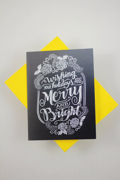 Card - Wishing your holidays are Merry and Bright - howjoyfulshop