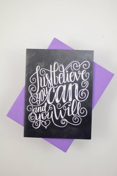 Card - Just believe you can, and you will - howjoyfulshop