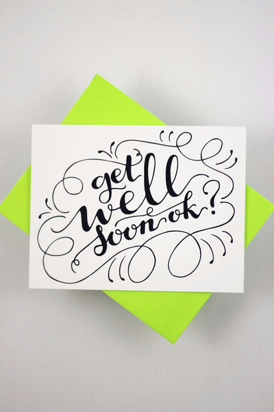 Card - Get well soon ok - howjoyfulshop