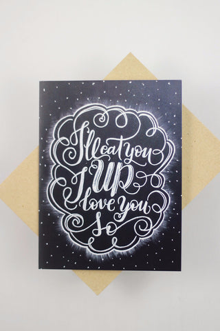 Card - I'll eat you up, I love you so - howjoyfulshop