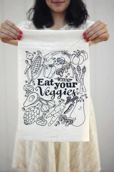 Tea towel - Eat your veggies - howjoyfulshop