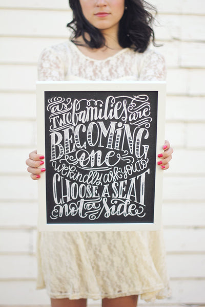 "Art print - Wedding - 11x14"" As two families are becoming one - howjoyfulshop"