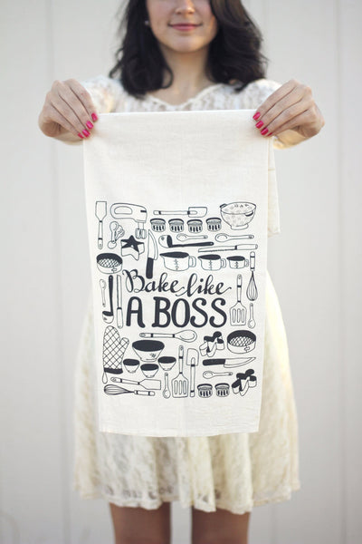 Tea towel - Bake like a boss