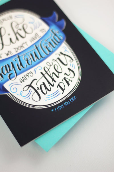 Card  - I like how we don't have to say it out loud - howjoyfulshop