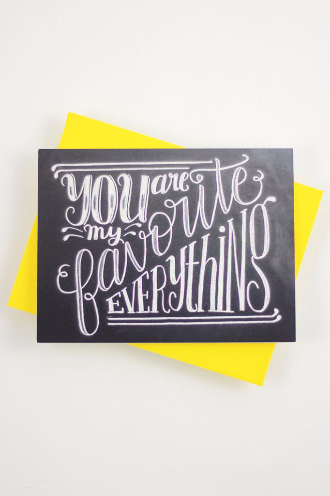 Card - You are my favorite everything - howjoyfulshop