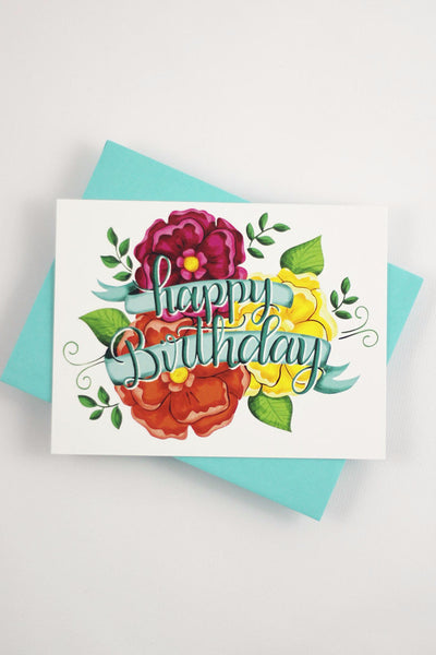 Card - Happy birthday - howjoyfulshop