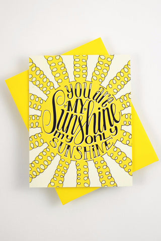 Card - You are my sunshine, my only sunshine - howjoyfulshop