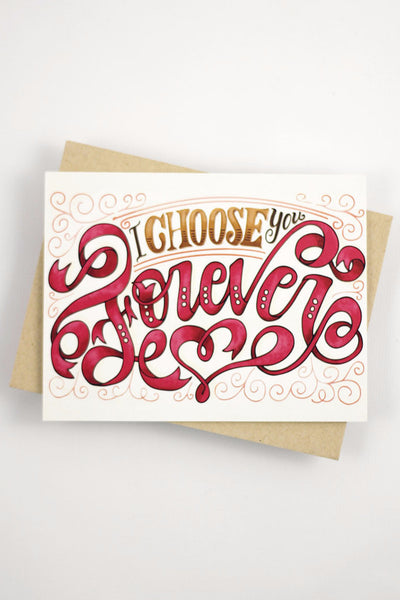 Card - I choose you forever - howjoyfulshop