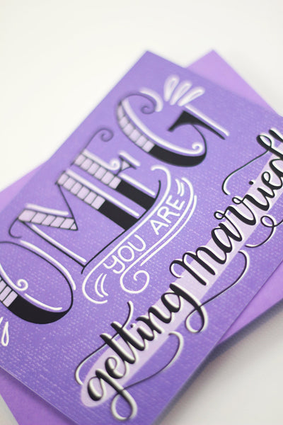 Card - OMFG you are getting married! - howjoyfulshop
