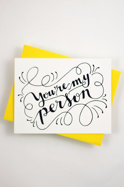 Card - You are my person - howjoyfulshop