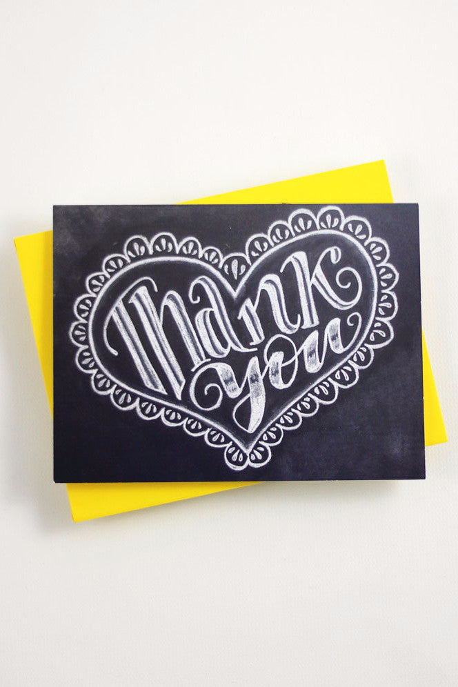Card - Heart Thank You - howjoyfulshop