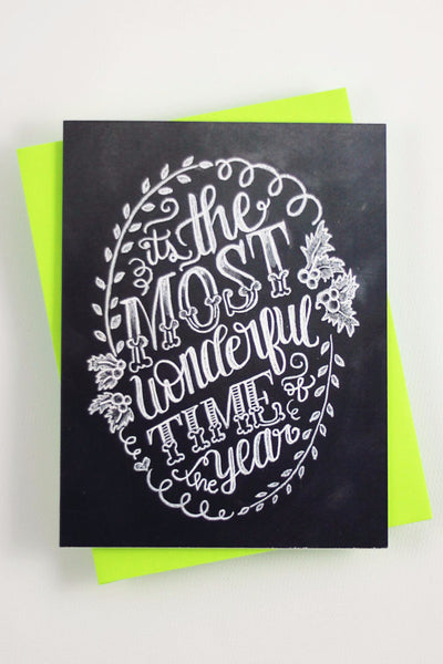 Card - It's the most wonderful time of the year - howjoyfulshop