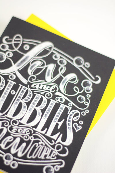Card - Love and bubbles - howjoyfulshop