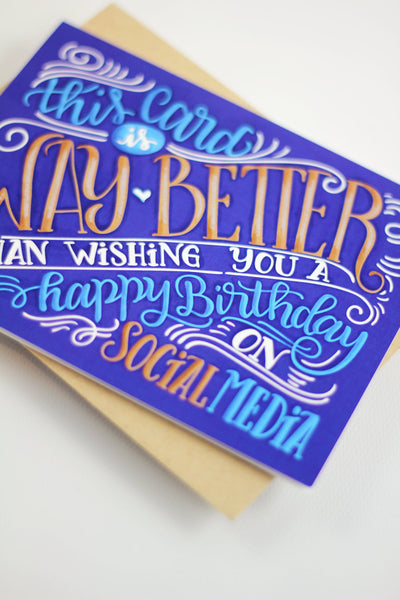 Card - Social media birthday - howjoyfulshop