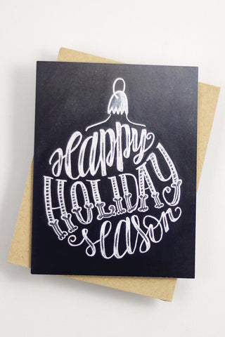 Card - Happy Holiday Season Ornament - howjoyfulshop