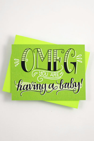 Card - OMG you are having a baby! - howjoyfulshop