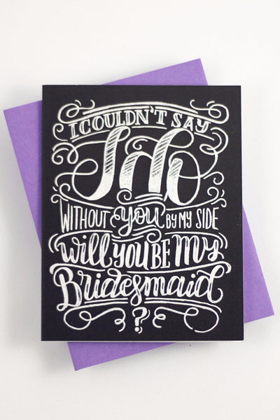 Card - Will you be my Bridesmaid? - howjoyfulshop