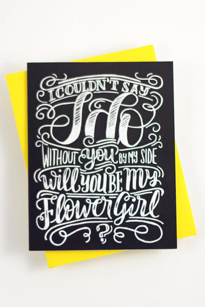 Card - Will you be my Flower Girl? - howjoyfulshop