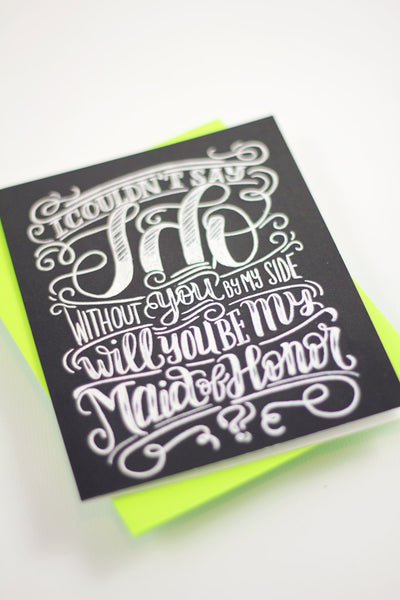 Card - Will you be my Maid of Honor? - howjoyfulshop