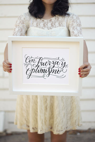 Art print - Con fuerza y optimismo - Spanish Inspiration - howjoyfulshop