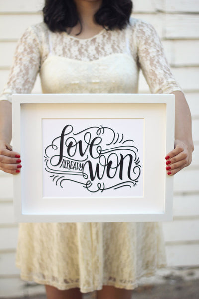 Art print - Love already won - Support ekubouganda - howjoyfulshop