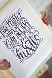 Art print - I am the perfect mix of girl power and hustle - howjoyfulshop