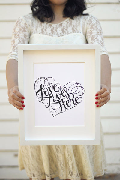 Art print - Love lives here - Support ekubouganda - howjoyfulshop