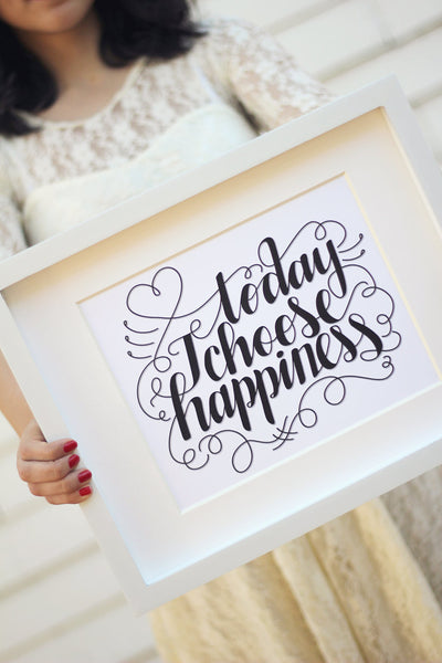 Art print  - Today I choose happiness - howjoyfulshop