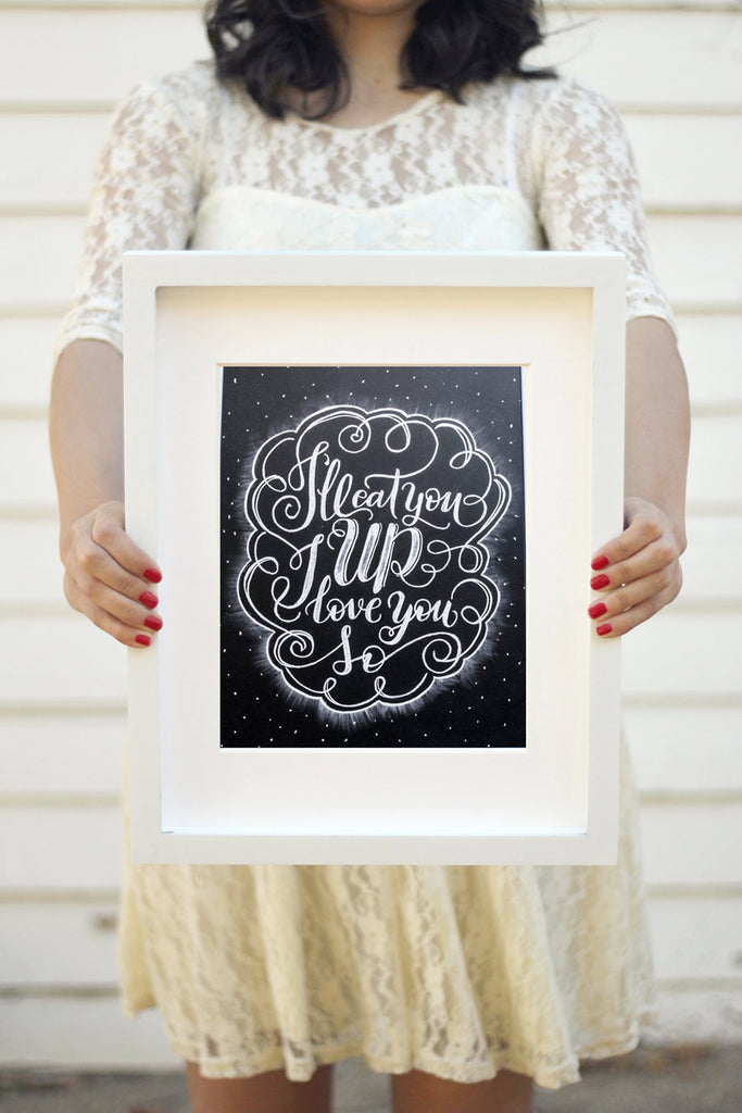 "Art print - 8x10"" I'll eat you up I love you so - howjoyfulshop"