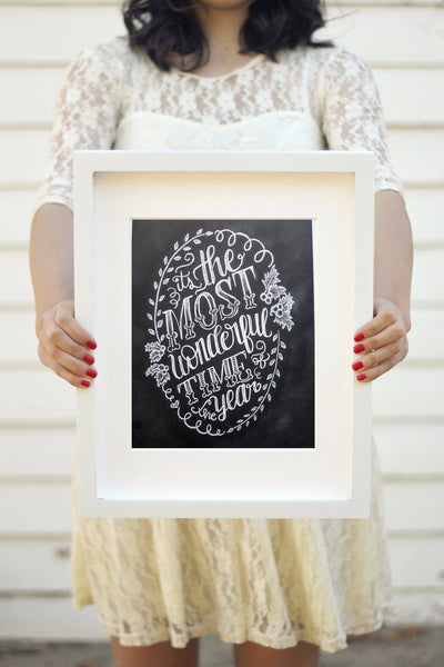 "Art print - 8x10"" It's the most wonderful time of the year - howjoyfulshop"