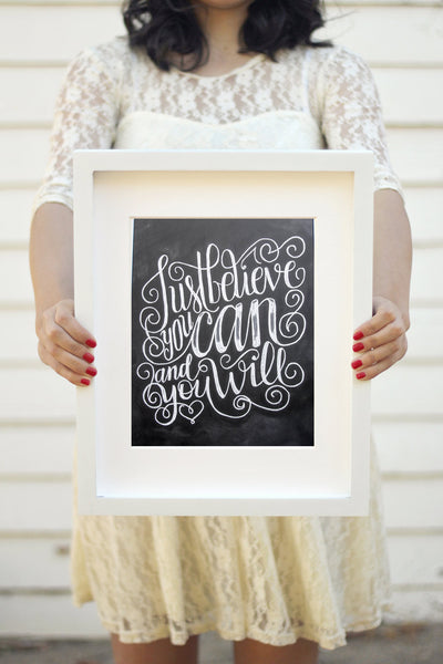 "Art print - 8x10"" Just believe you can, and you will - howjoyfulshop"